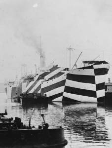 USS West Mahomet in dazzle camouflage, 1918
