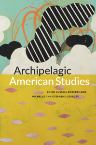 The front cover of Archipelagic American Studies, as published in June 2017, based on Fidalis's White Cloud Caution Flasher
