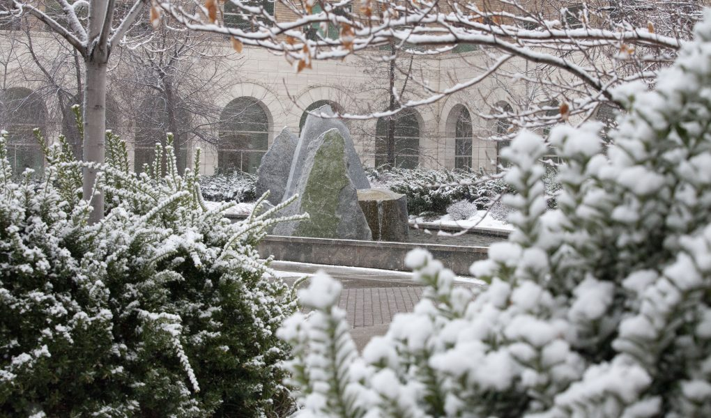 JFSB courtyard in the winter