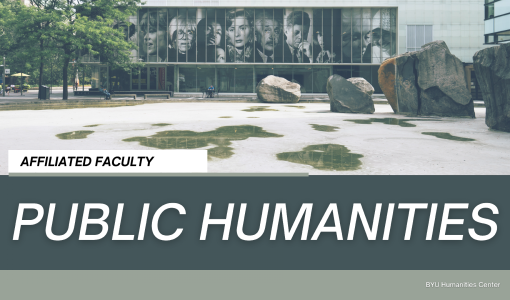 Public Humanities - Affiliated Faculty web banner